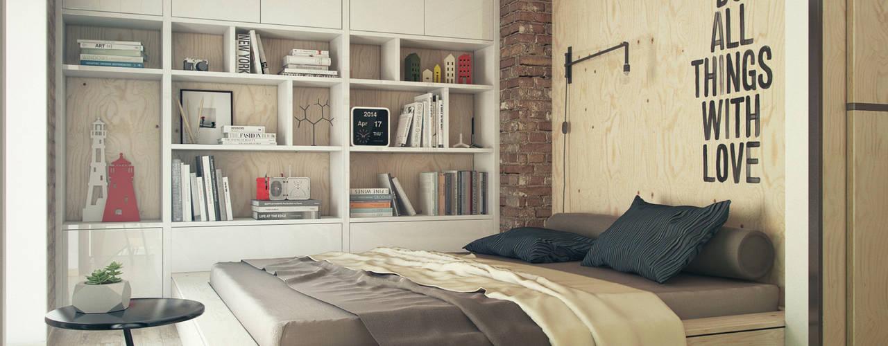 The Goort Camera da letto in stile industriale