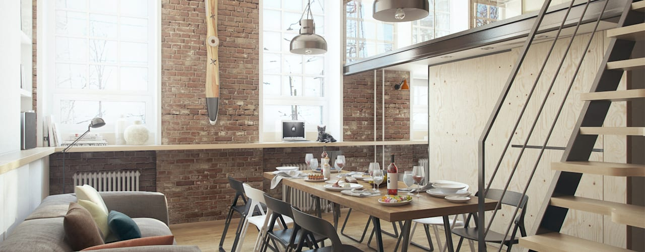 Industrial style dining room by The Goort Industrial