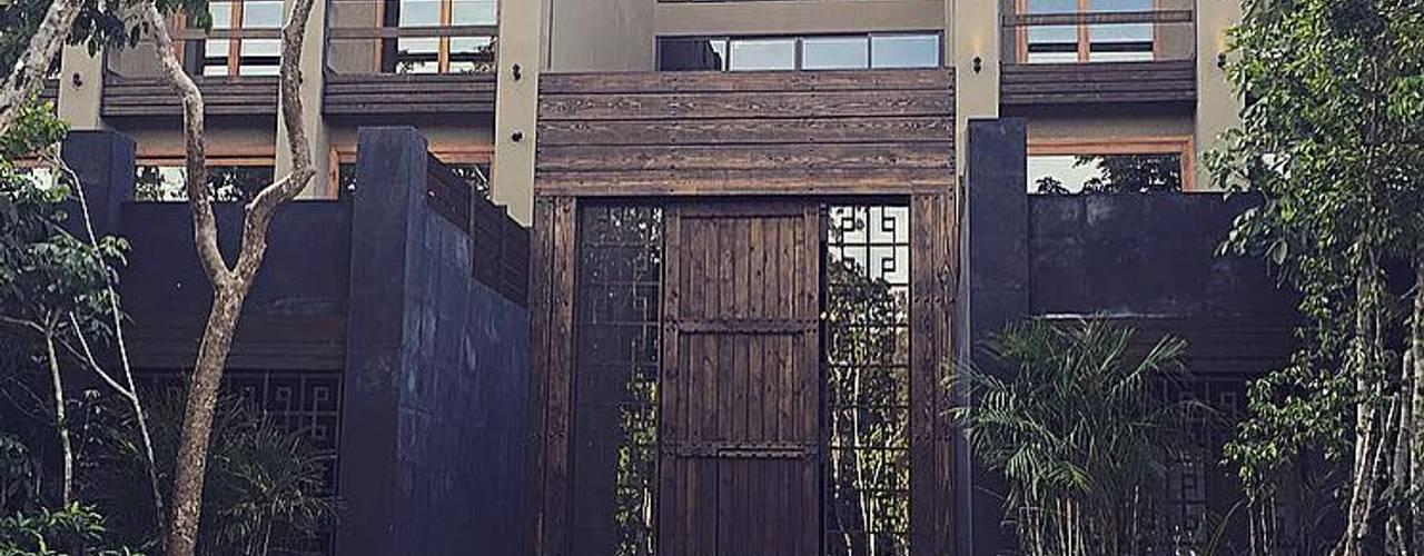 Main facade Tulum Project: Casas de estilo  por JCandel