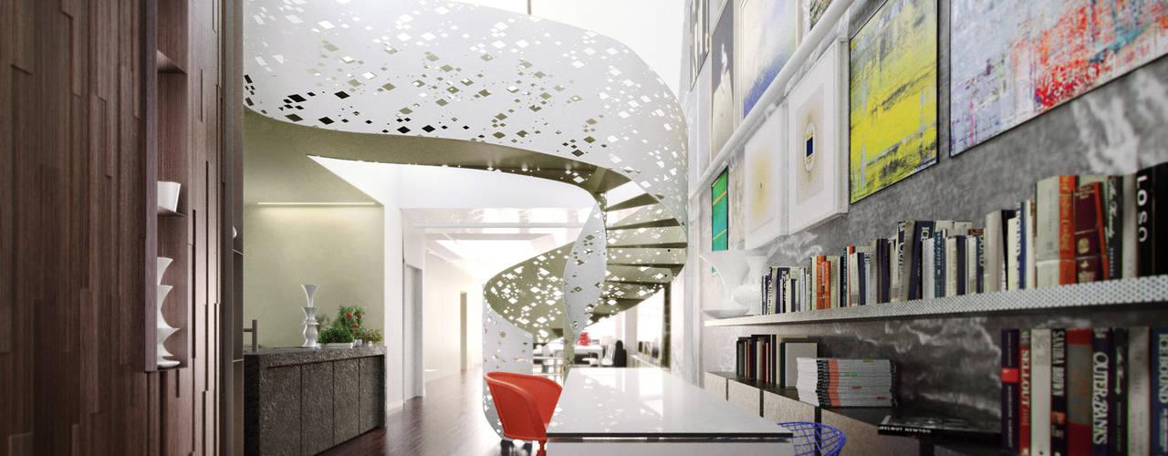 de-cube Eclectic corridor, hallway & stairs