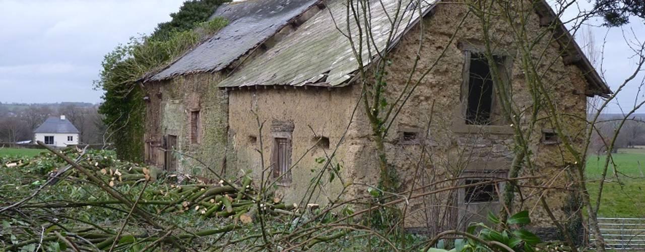 Projekty, wiejskie Domy zaprojektowane przez Briand Renault Architectes