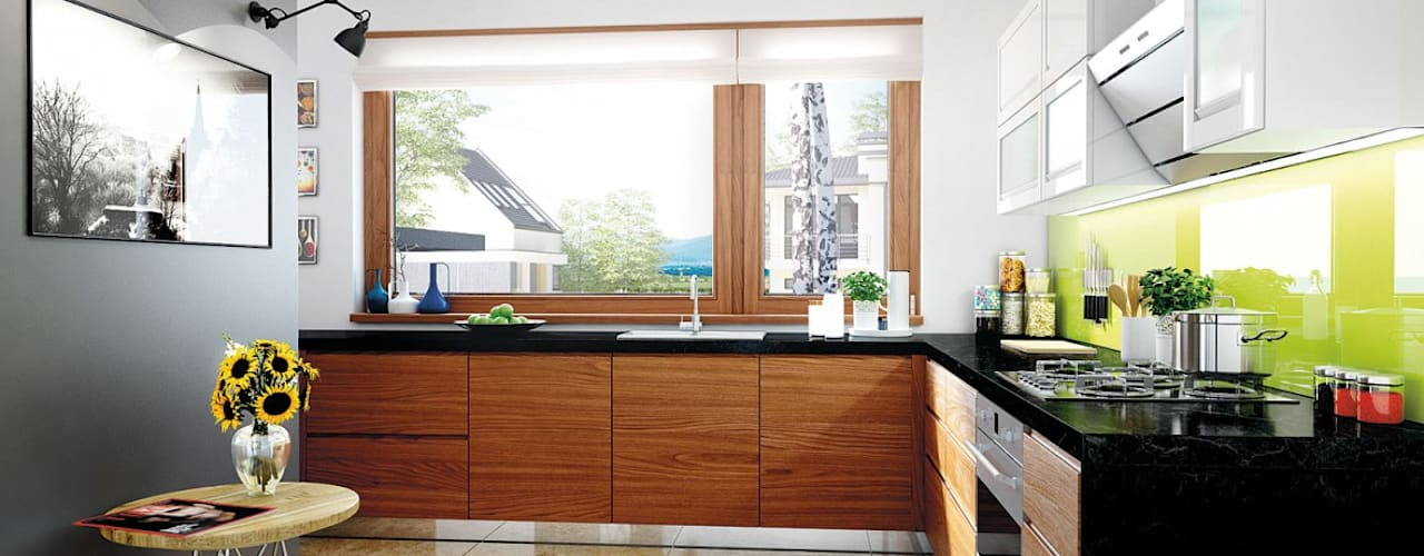 Cocinas de estilo  por Pracownia Projektowa ARCHIPELAG, Moderno