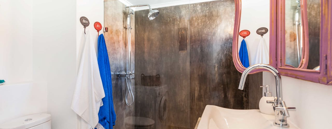Baños de estilo rústico de alma portuguesa Rústico