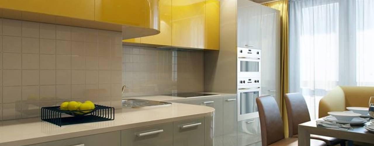 ПРИТЯЖЕНИЕ ЦВЕТА: Кухни в . Автор – Дизайн студия Алёны Чекалиной, Классический