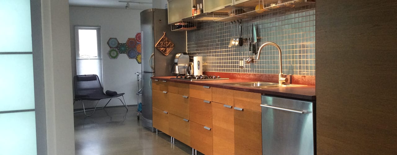 Container home Modern kitchen by Ecosa Institute Modern