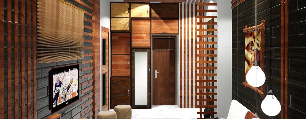 Creazione Interiors Modern style bedroom Plywood