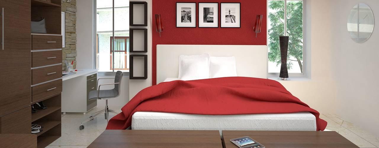Habitaciones de estilo  por AVANT ARQ