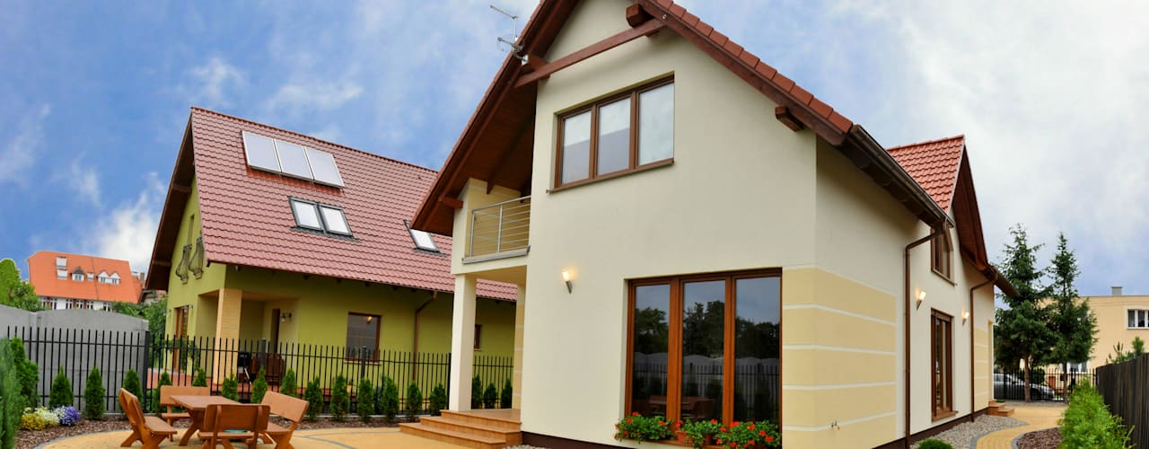 Klassische Häuser von Biuro Projektów MTM Styl - domywstylu.pl Klassisch