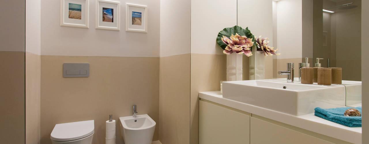 Ideias de decoraç u00e3o para uma casa de banho moderna -> Decoração De Casas De Banho Em Azul