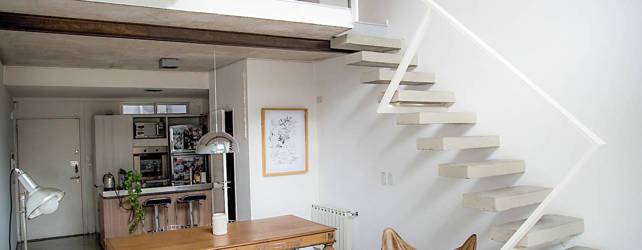 Scandinavian style dining room by MeMo arquitectas Scandinavian