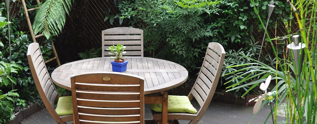 Terrasse exotique en ville Jardin tropical par Taffin Tropical