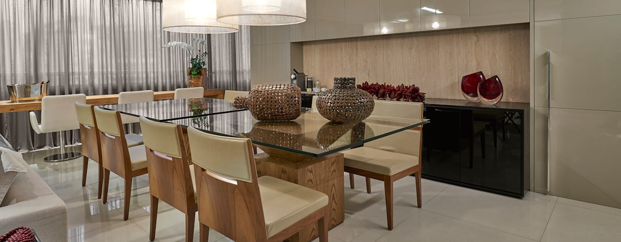 Modern dining room by Isabela Canaan Arquitetos e Associados Modern