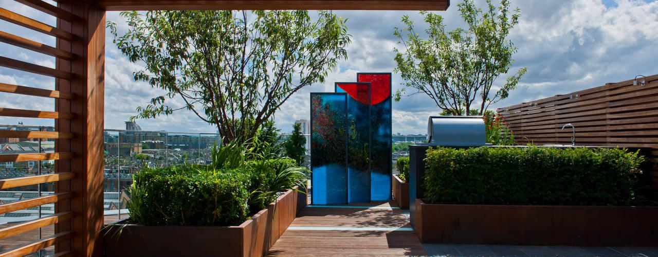 Chelsea Creek: High End Roof Terraces Сад в стиле модерн от Aralia Модерн