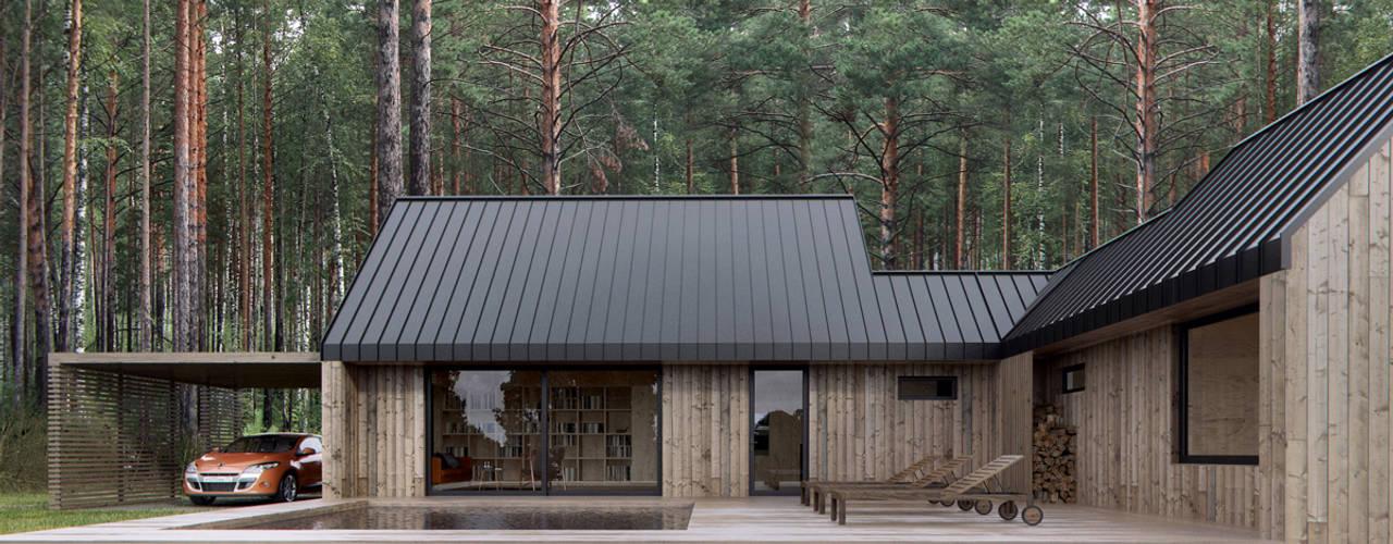 Projekty,  Dom prefabrykowany zaprojektowane przez INT2architecture