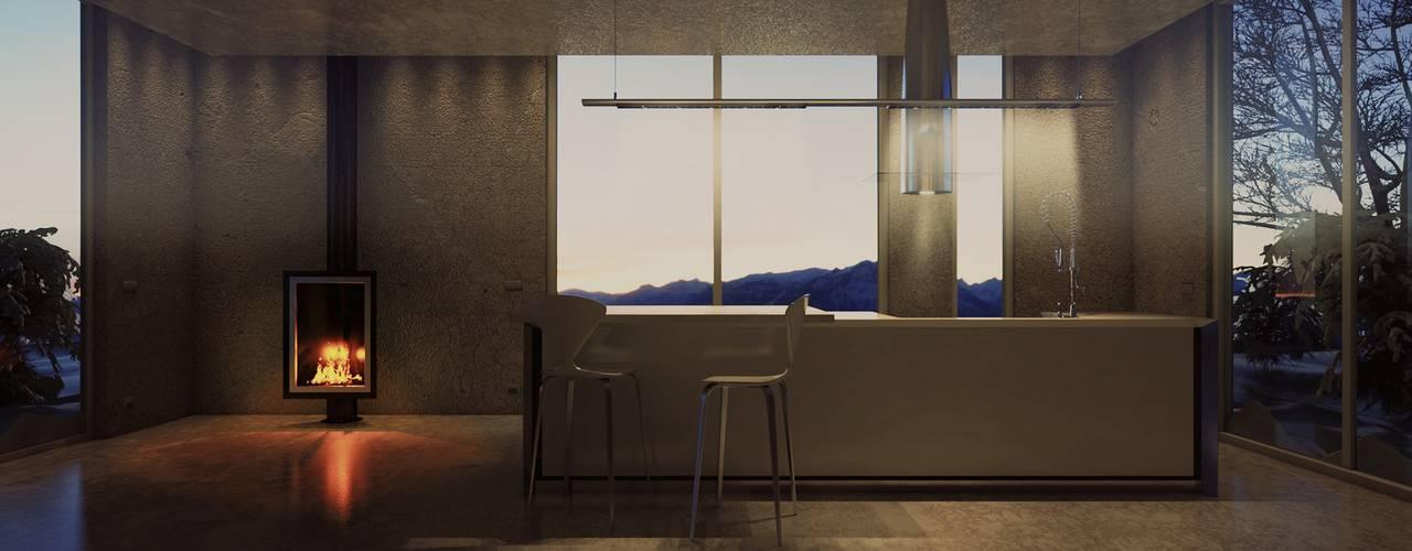 Minimalist kitchen by pixelgrafica Minimalist