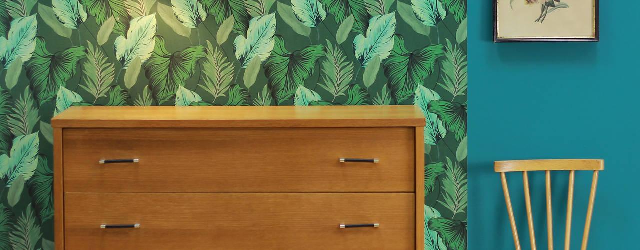 Palm 1957 LE PRESSE PAPIER / PAPIER PEINT Murs & SolsRevêtements de mur et de sol Papier Vert