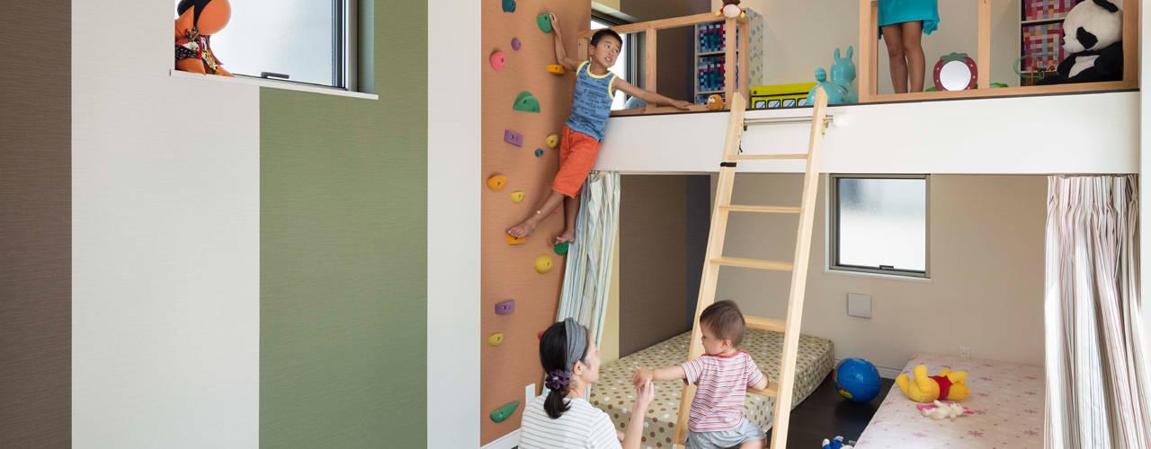 Dormitorios infantiles asiáticos de 株式会社タバタ設計 Asiático