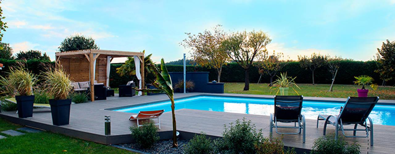 Jardins modernos por E/P ESPACE DESIGN - Emilie Peyrille Moderno