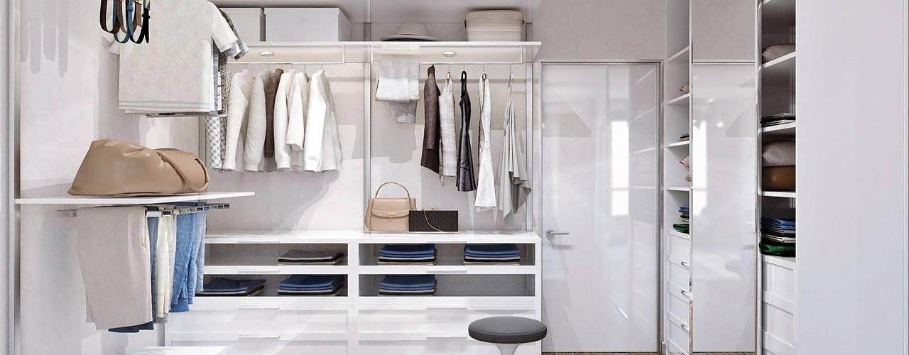 Vestidores y closets de estilo minimalista por 1+1 studio