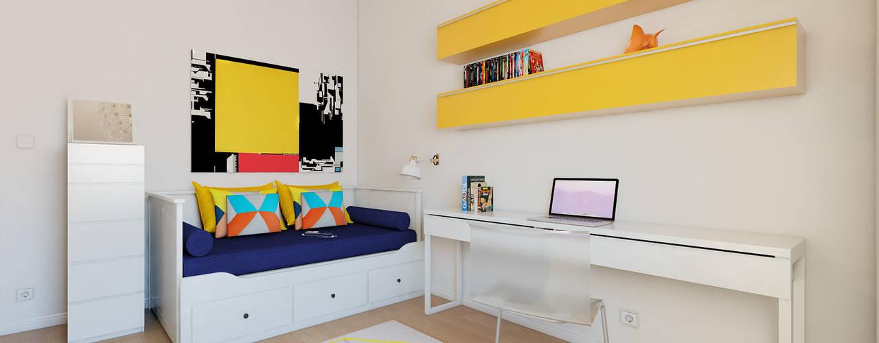 Dormitorios de estilo  por José Tiago Rosa