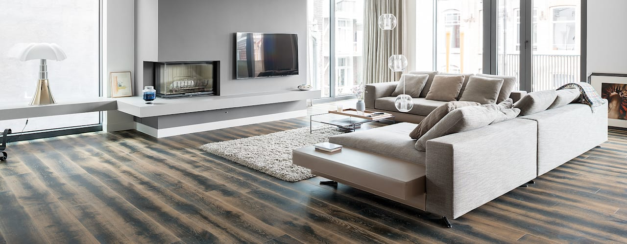 apartment in Amsterdam Moderne Häuser von Dennebos Flooring BV Modern