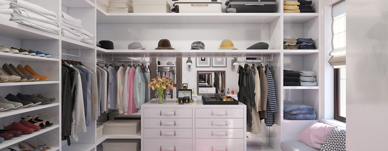 Dressing room by Giovani Design Studio, Minimalist
