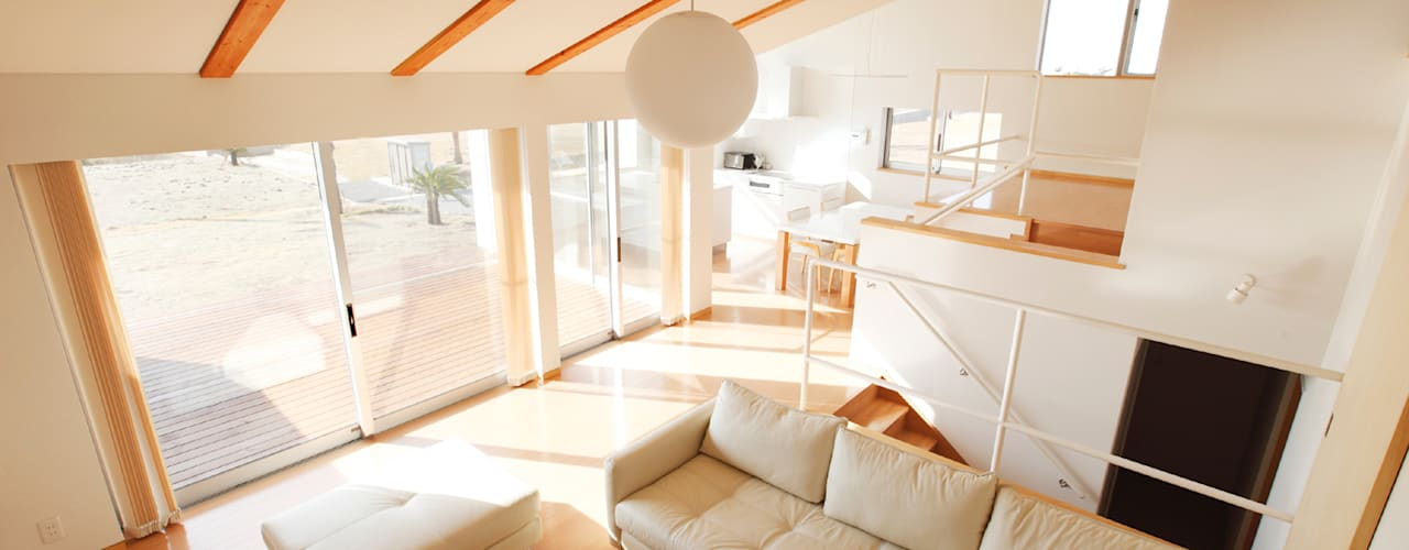 Projekty,  Salon zaprojektowane przez 細江英俊建築設計事務所