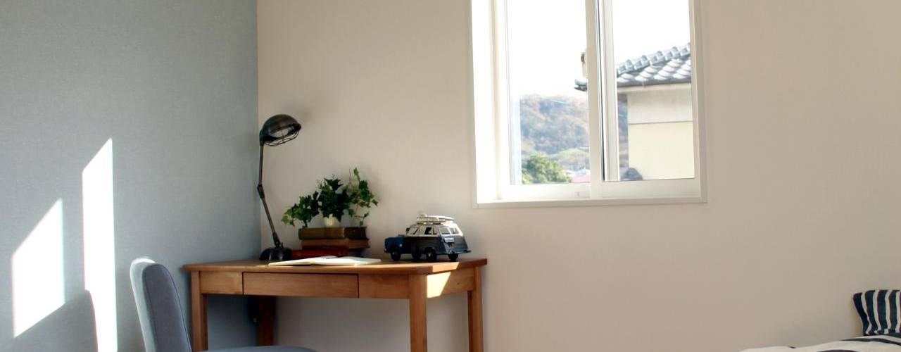 『 ふんわり北欧スタイルのすまい 』 Live Sumai - アズ・コンストラクション - 北欧スタイルの 寝室