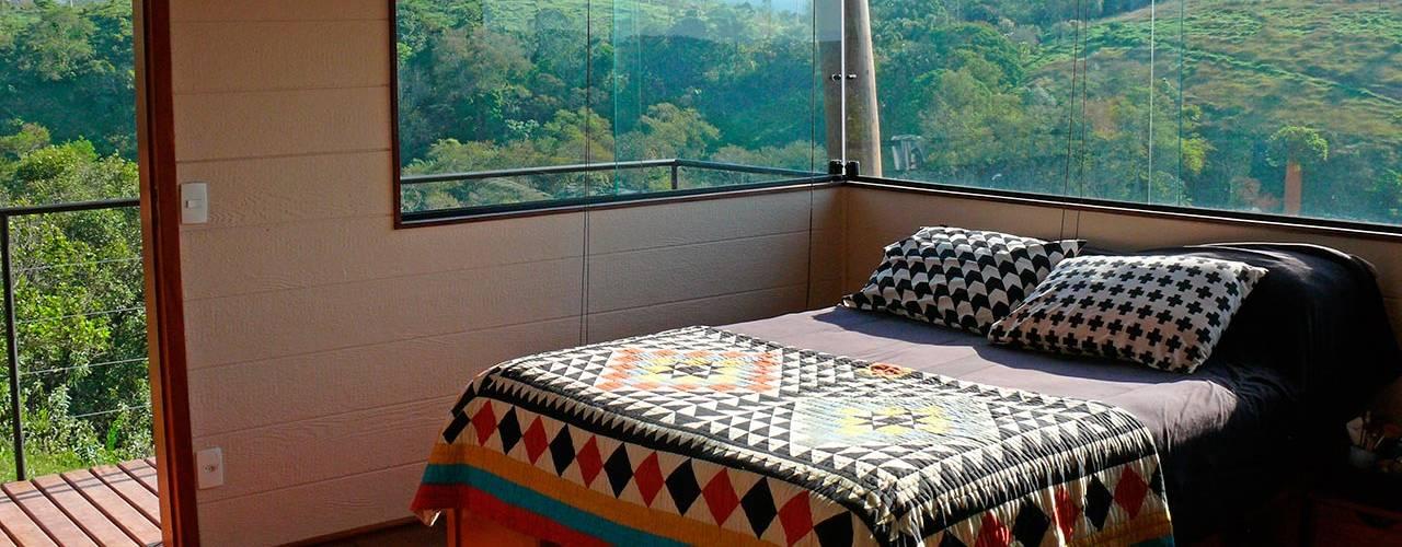 Casa em Guararema Quartos rústicos por Cabana Arquitetos Rústico