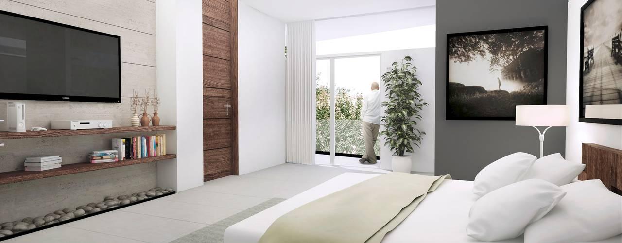 TREVINO CHABRAND Taller de Arquitectura TREVINO.CHABRAND | Architectural Studio Dormitorios modernos