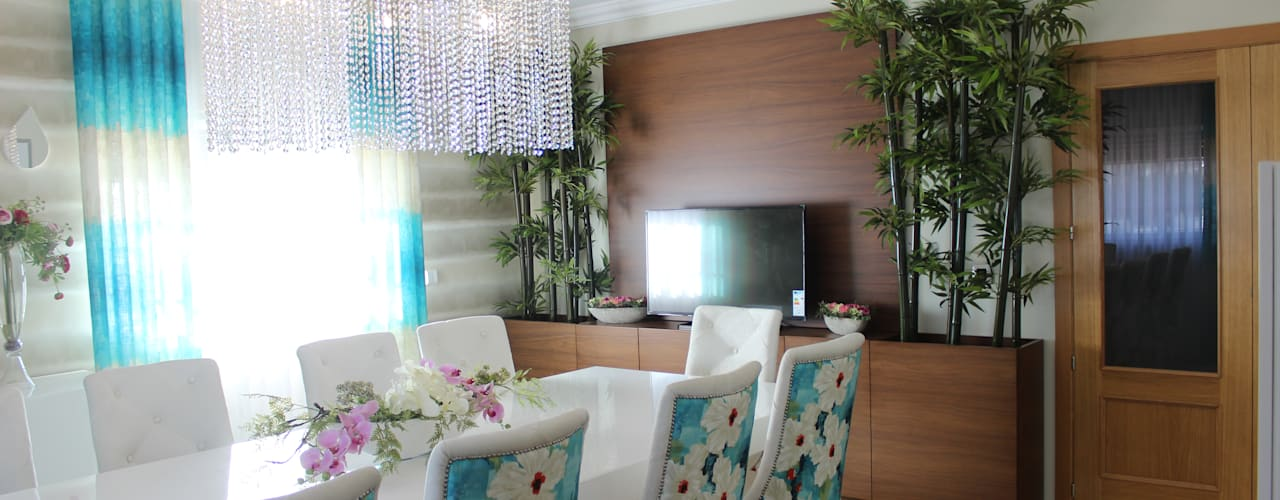 غرفة السفرة تنفيذ Andreia Louraço - Designer de Interiores (Contacto: atelier.andreialouraco@gmail.com)