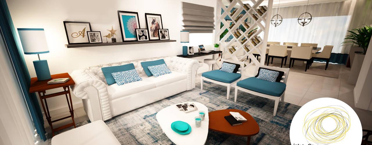 Modern living room by Andreia Louraço - Designer de Interiores (Contacto: atelier.andreialouraco@gmail.com) Modern