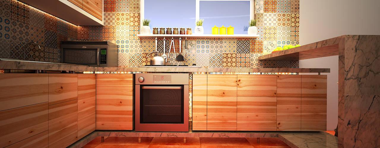 Cocinas de estilo  por Rotoarquitectura
