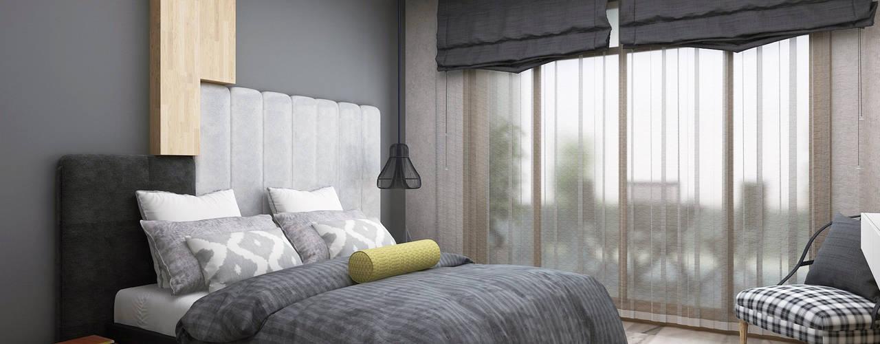 Ceren Torun Yiğit  – Stüdyo Daire Tasarımı:  tarz Yatak Odası