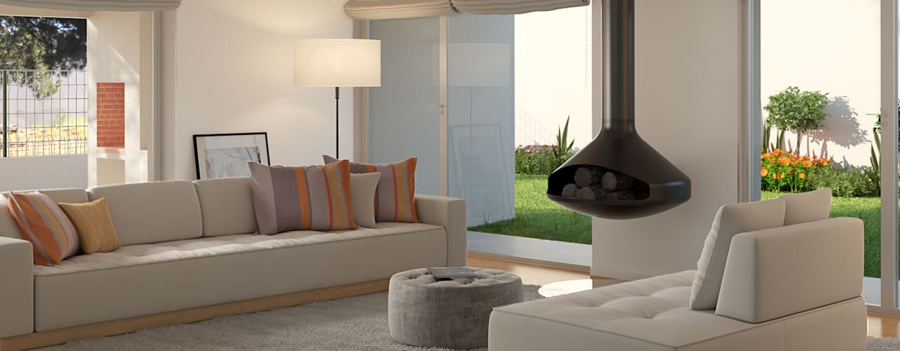 Living room by Miguel Ferreira Arquitectos, Modern