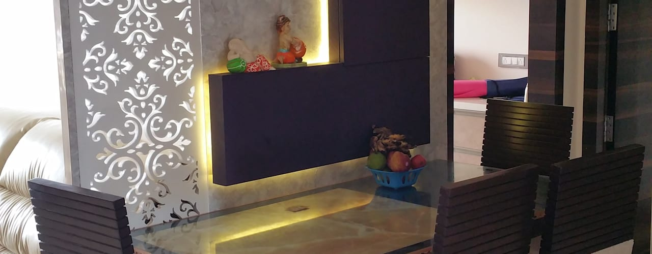 3 BHK Apartment Modern dining room by Alaya D'decor Modern