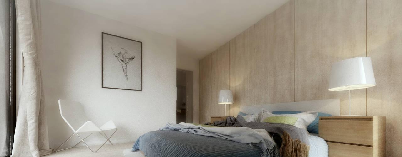 D House Quartos modernos por Rúben Ferreira | Arquitecto Moderno