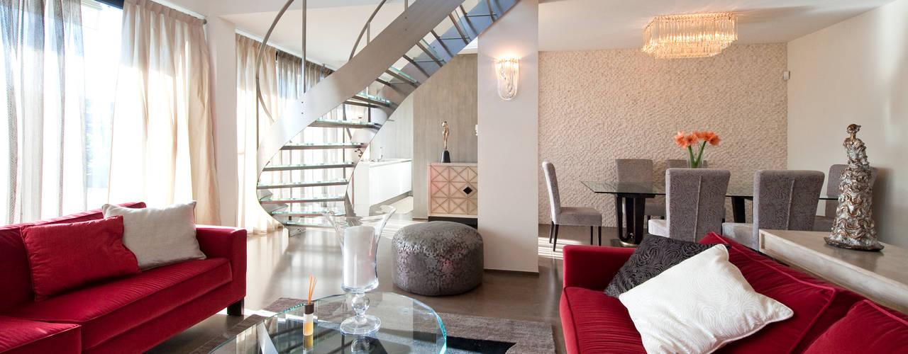 bilune studio Salones de estilo moderno