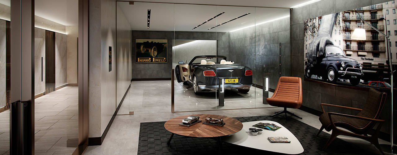 The Cricketers Folio Design Garage/Rimessa in stile moderno