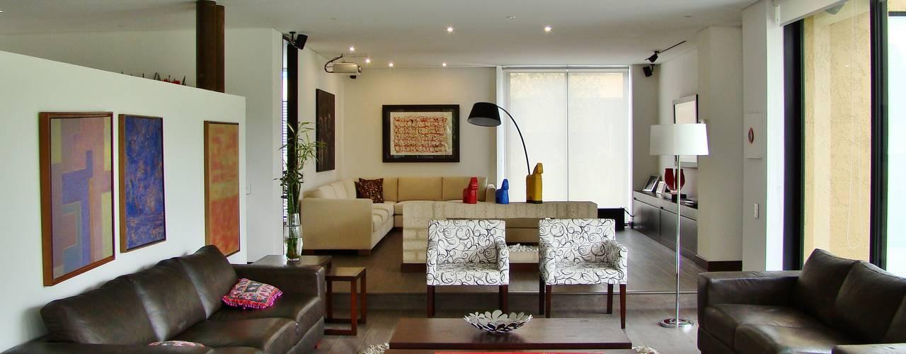 Living room by David Macias Arquitectura & Urbanismo