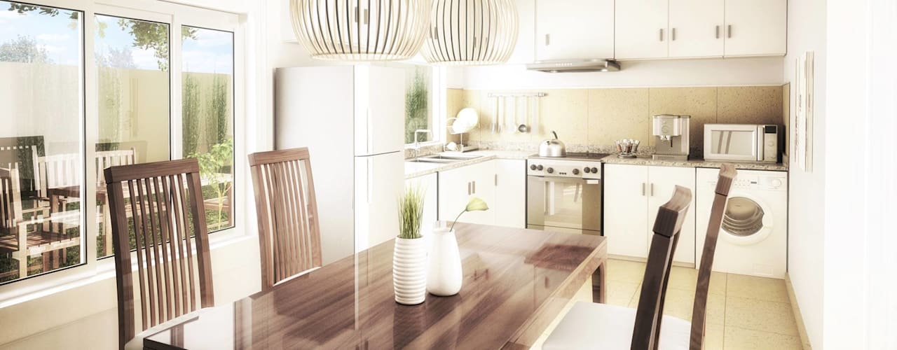 modern Dining room by Silvana Valerio