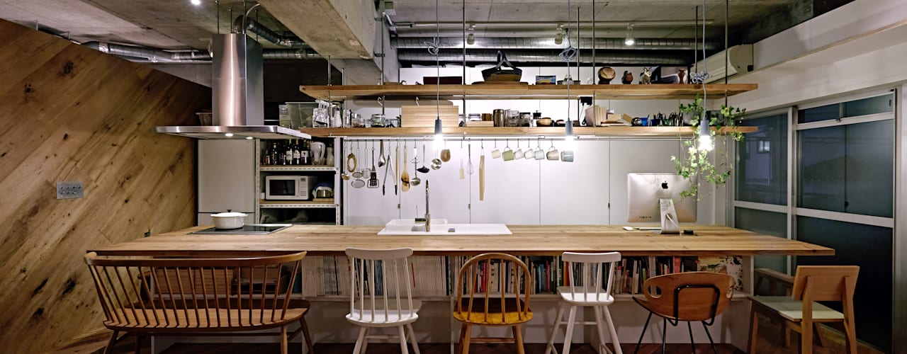 Industrial style kitchen by .8 / TENHACHI Industrial