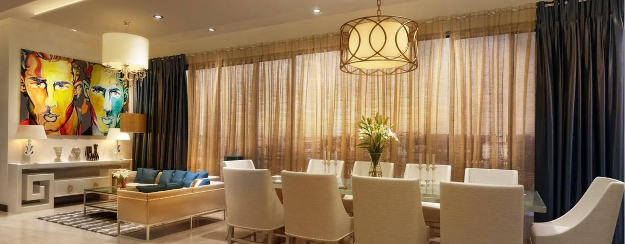 Mockup 3 BED Luxury Apartment Modern dining room by Dutta Kannan Partners Modern