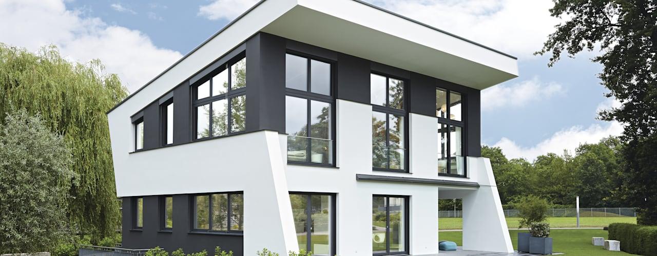 modern  door WeberHaus, Modern