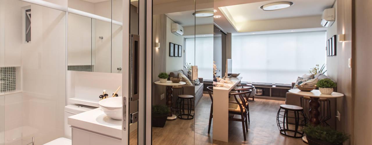 Гостиная в стиле модерн от Claudia Stach e Daniela Bordignon Arquitetura Модерн