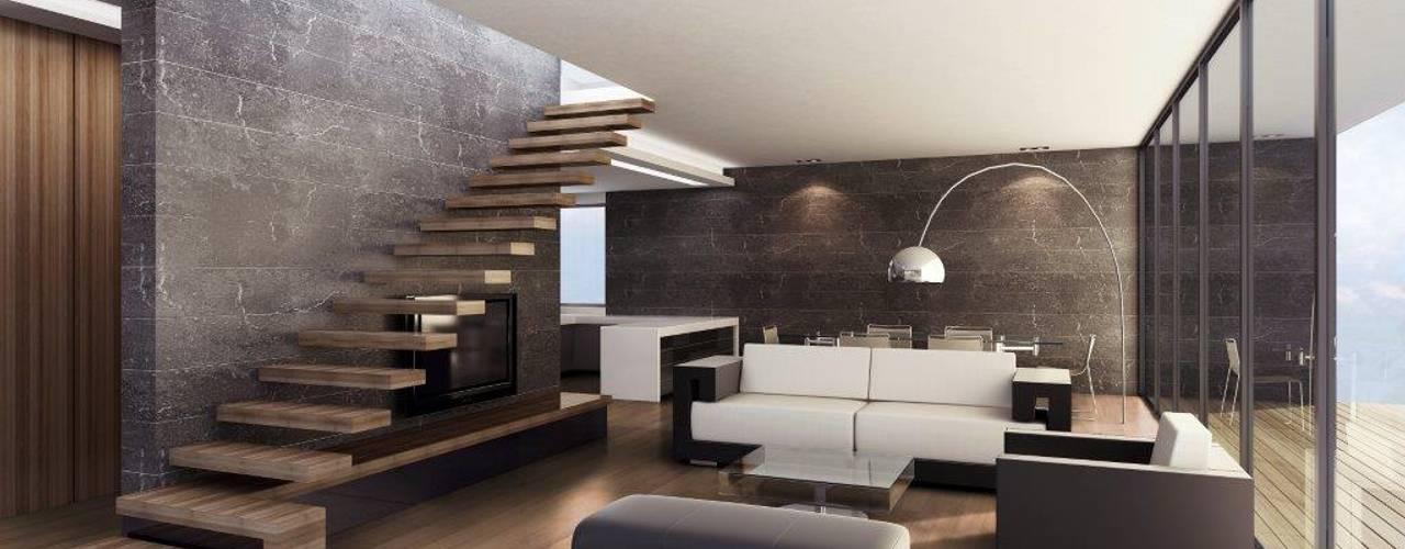 Paredes e pisos minimalistas por Hain Parkett Minimalista
