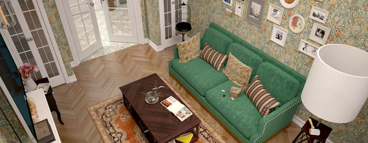 Eclectic style living room by BMM Eclectic