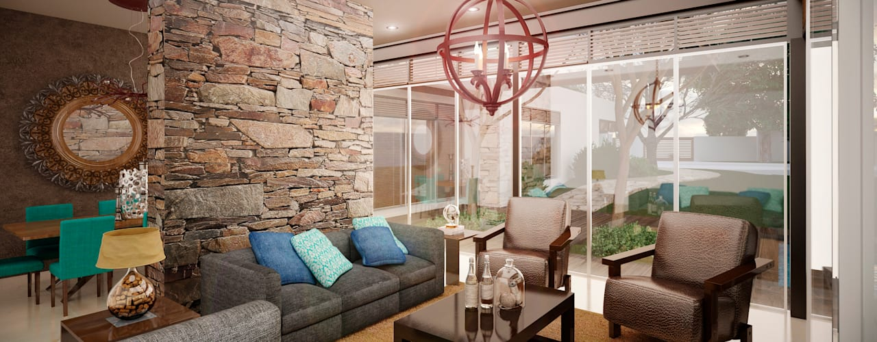 Woonkamer door PORTO Arquitectura + Diseño de Interiores