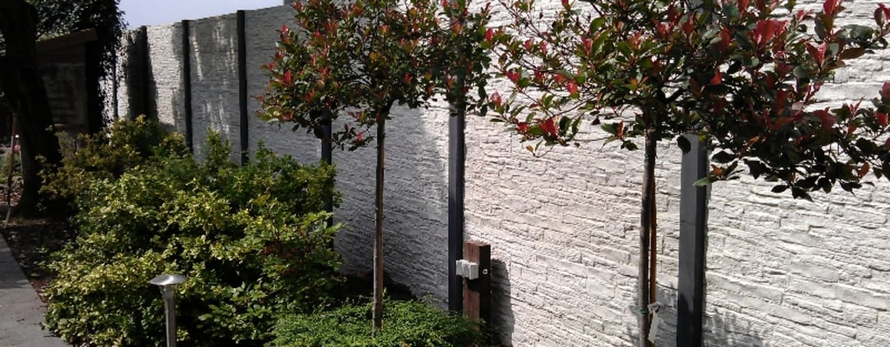 beton schutting Moderne tuinen van Kuiper Schuttingen Modern