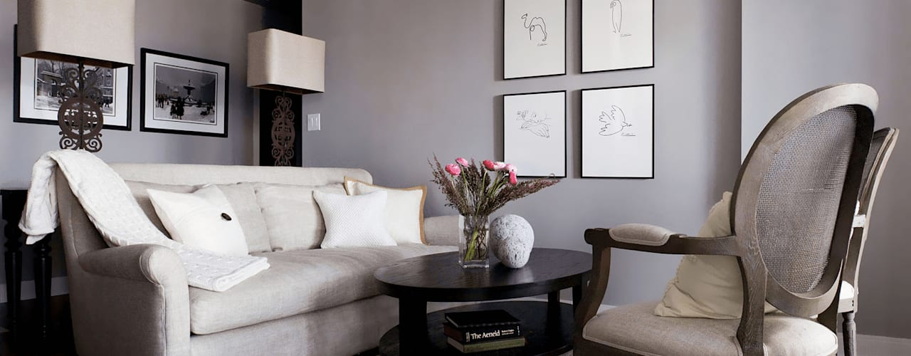 ANNA DUVAL Classic style living room Grey